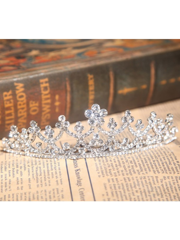Bright Alloy Czech Rhinestones Wedding Headpieces