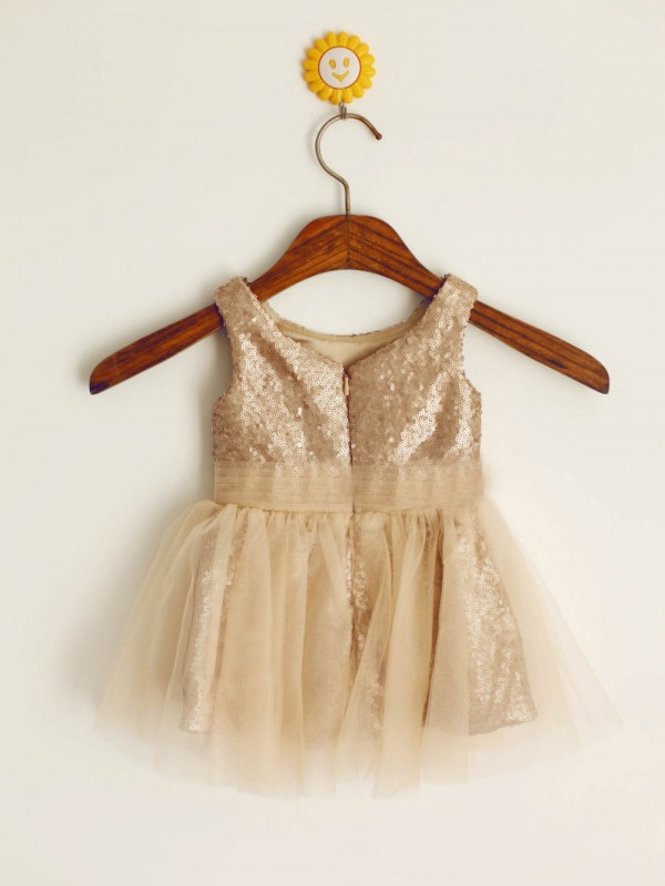 A-line Scoop Knee-length Flower Girl Dress